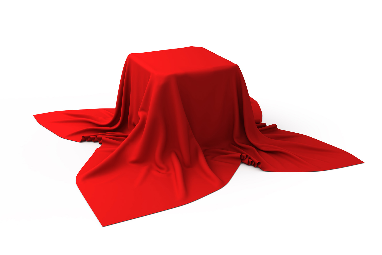 Red cloth covered under the object 50114