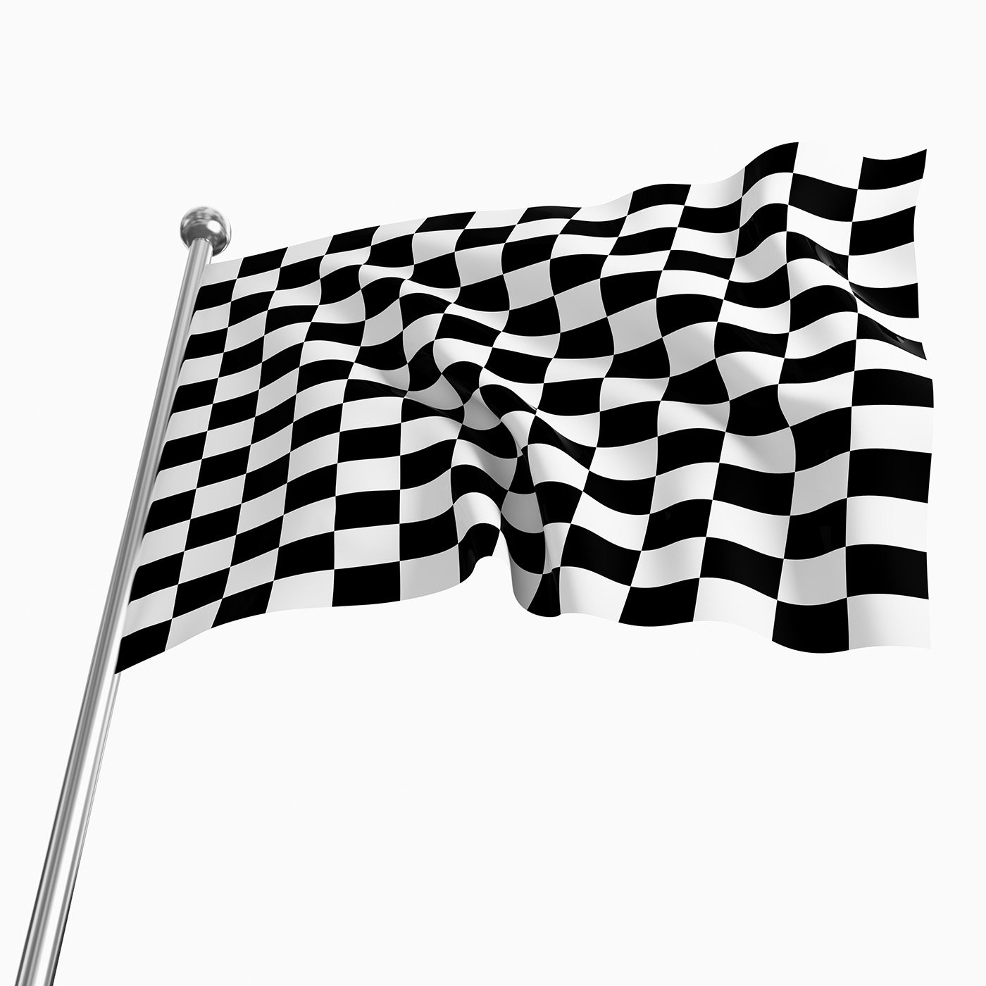 Close-up black and white checkered racing flag 50121