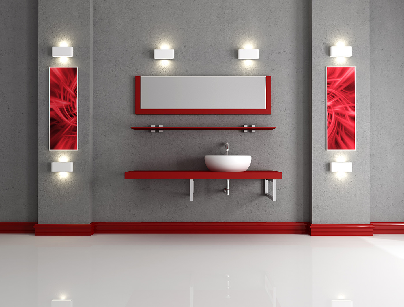 The lighting in the bathroom 50129