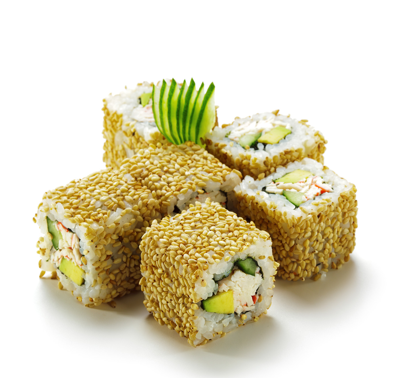 Covered with sesame seeds sushi children 50188