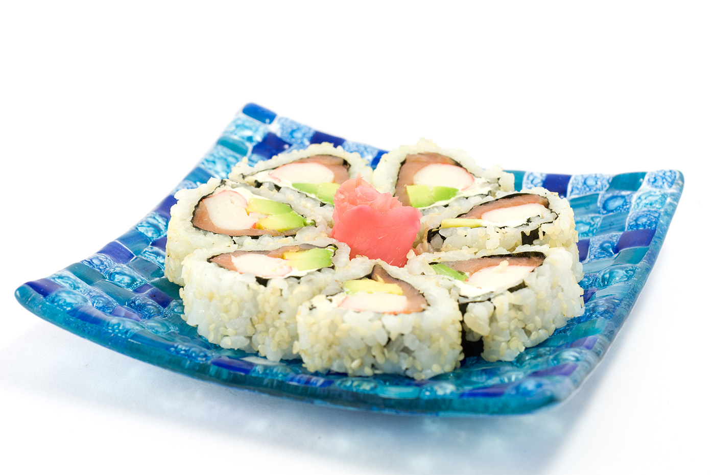 Plate of delicious sushi rolls 50192