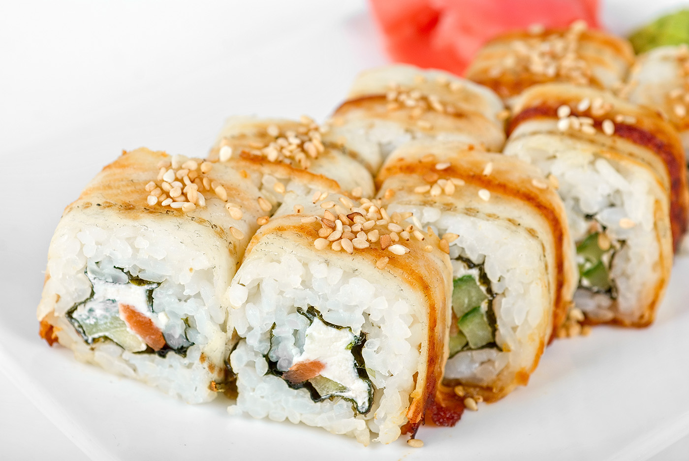 Sushi rolls with sesame seeds child's 50196