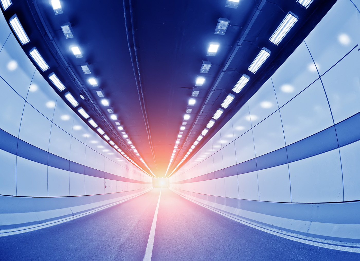 Underground Tunnel Road dazzling lights 50234