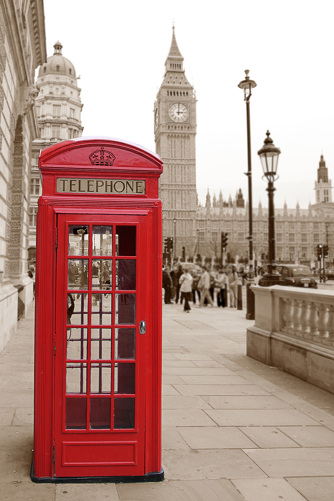 British red phone booth in London 50263