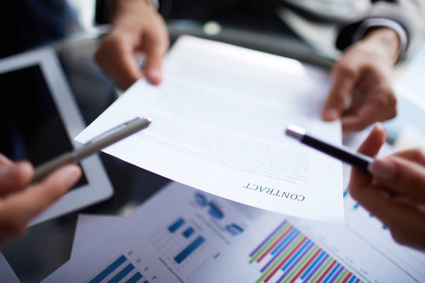 Business figures and documents and paper 50264