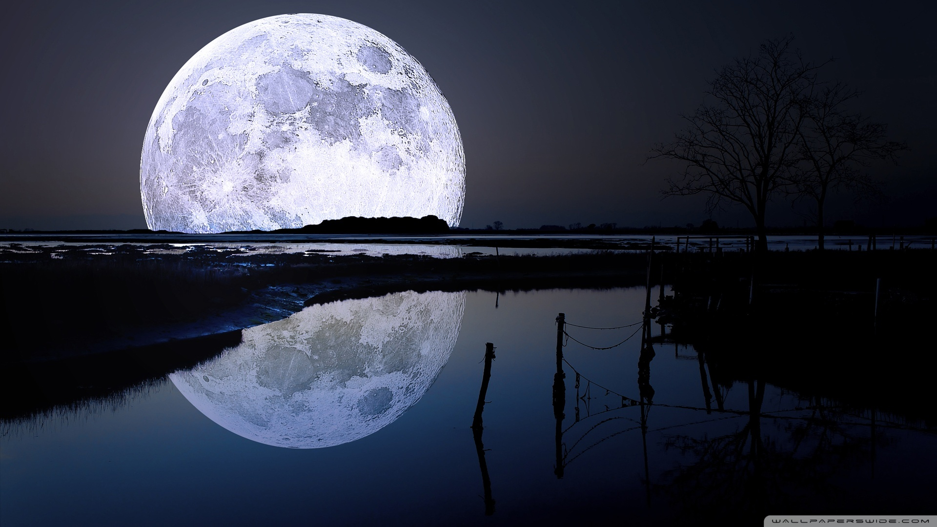 Full moon reflection 50358