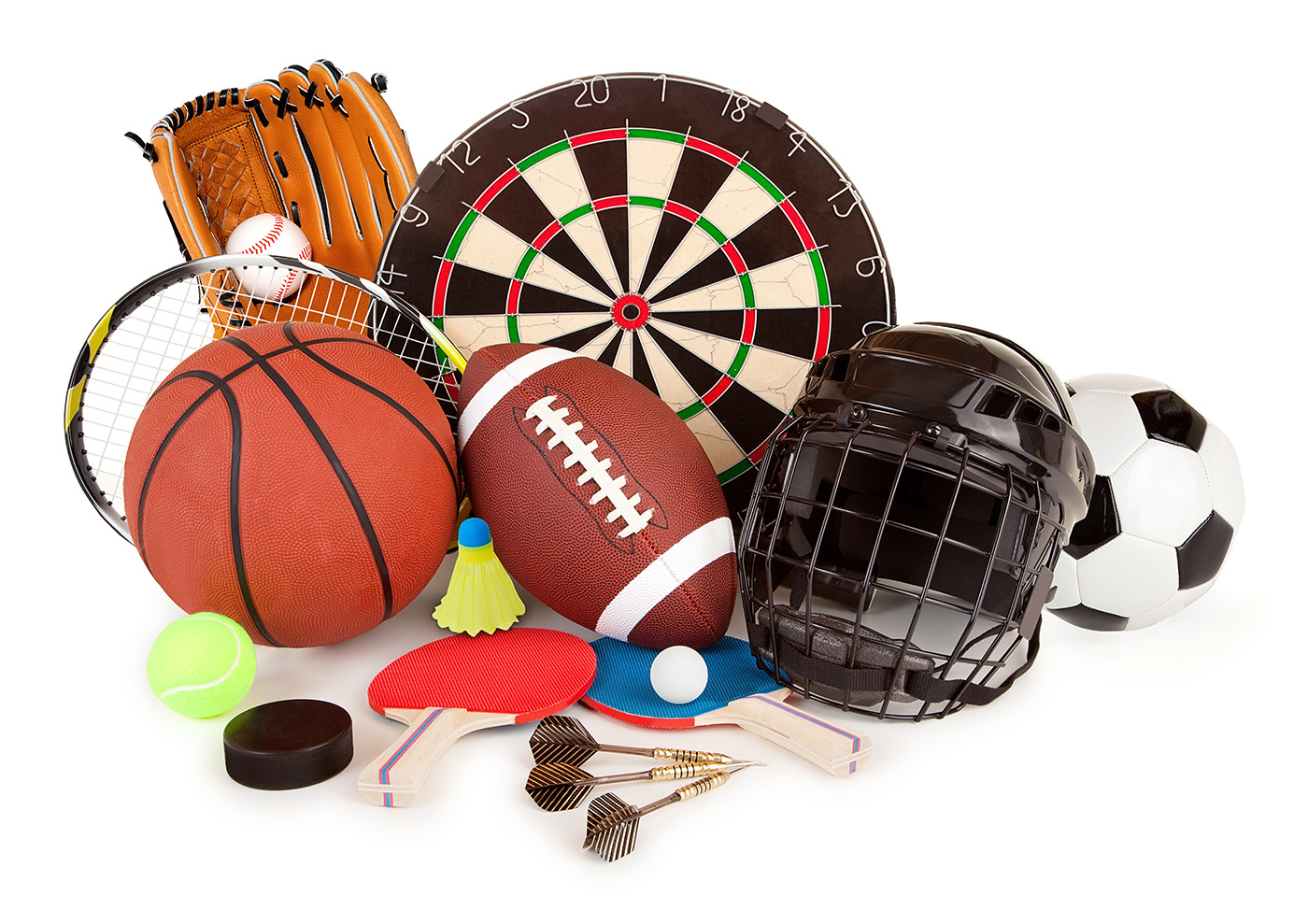 Darts tennis basketball and other sports goods 50380