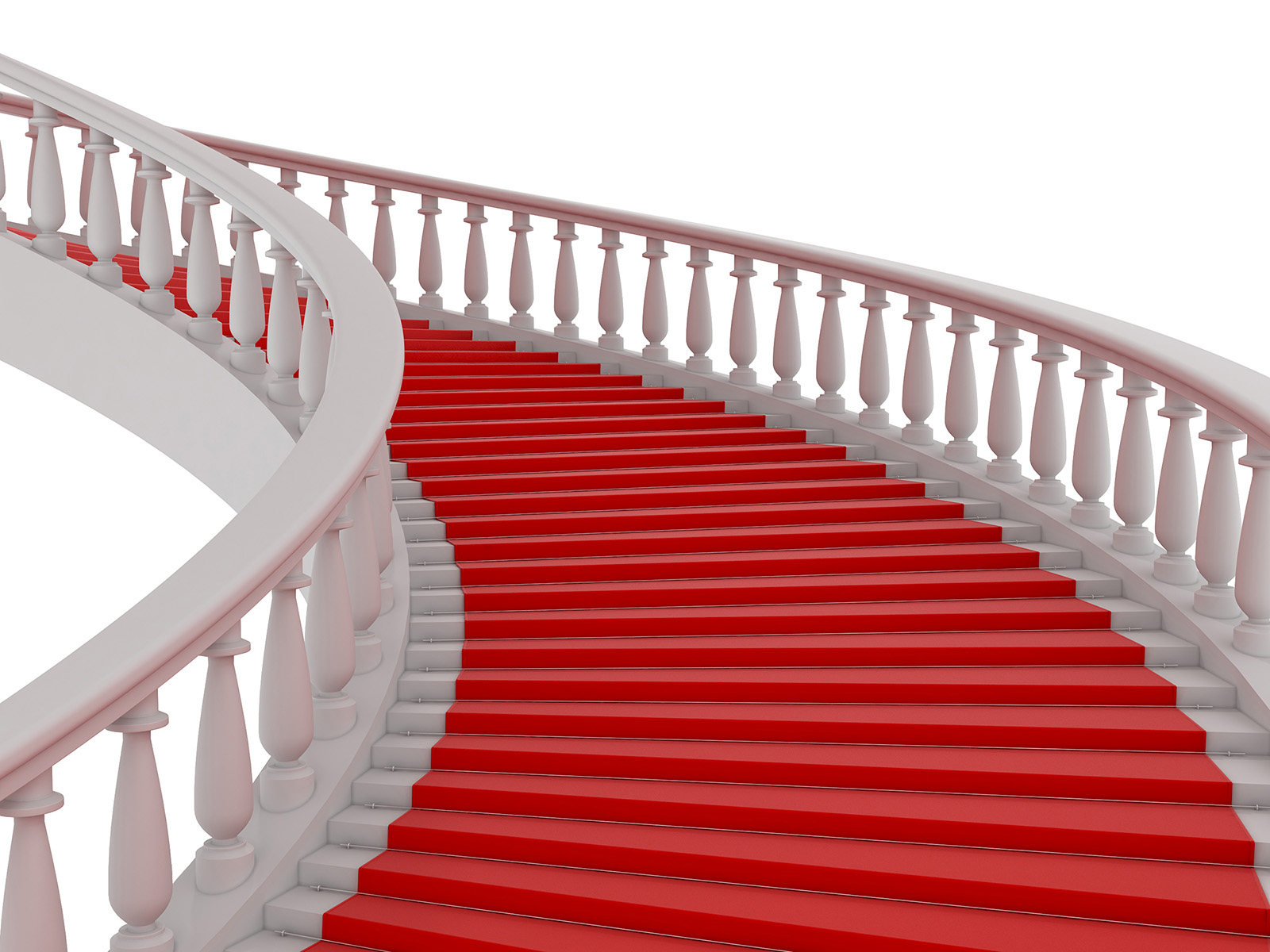 European spiral staircase red carpet shop 50391