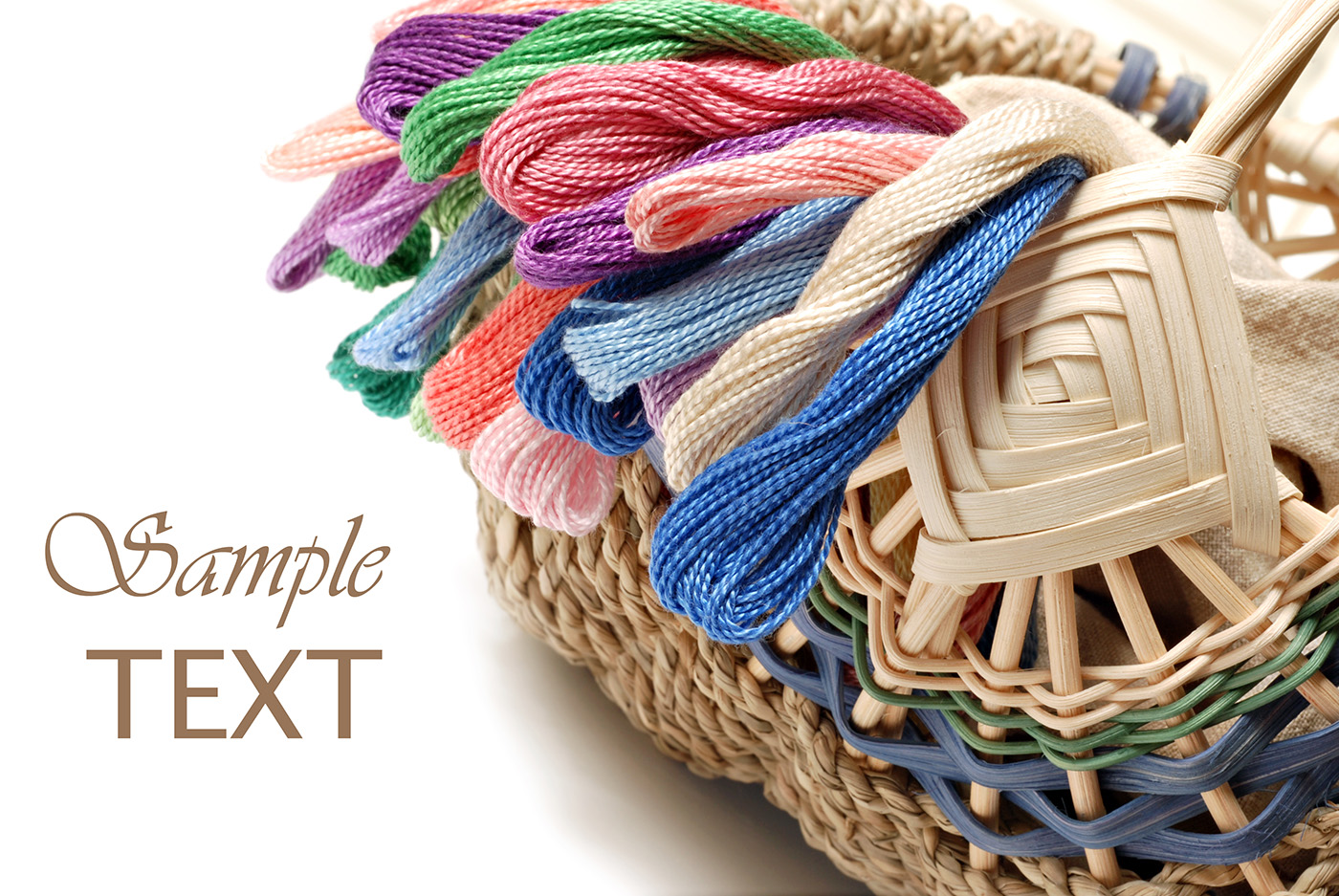 Basket of yarn debris 50412
