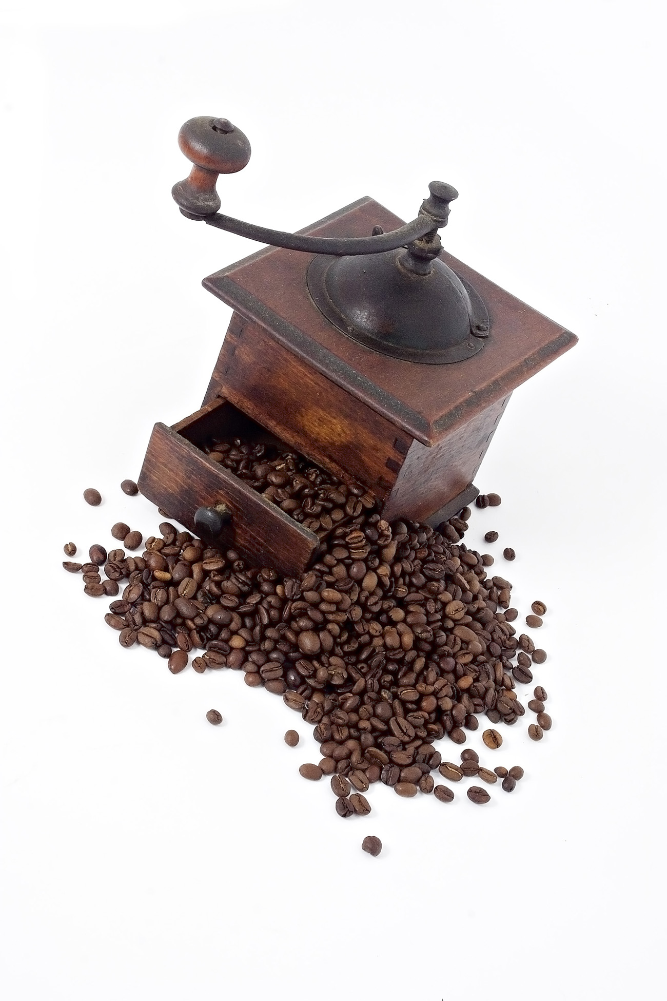 Wooden hand-cranked coffee grinders 50420