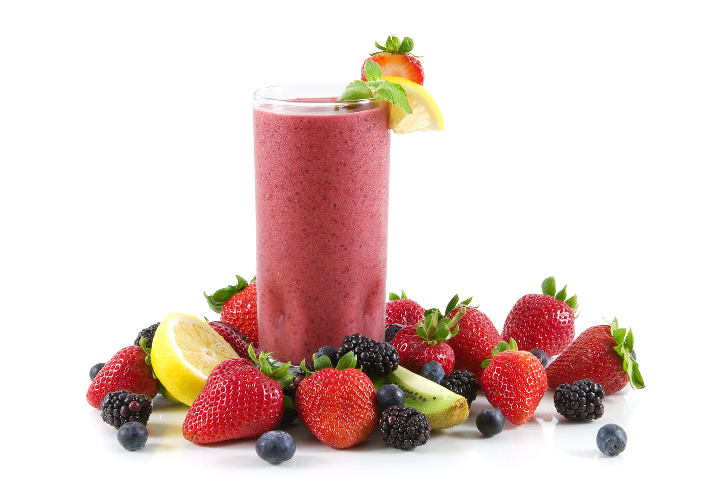 Cold fruit smoothie with berries 50448