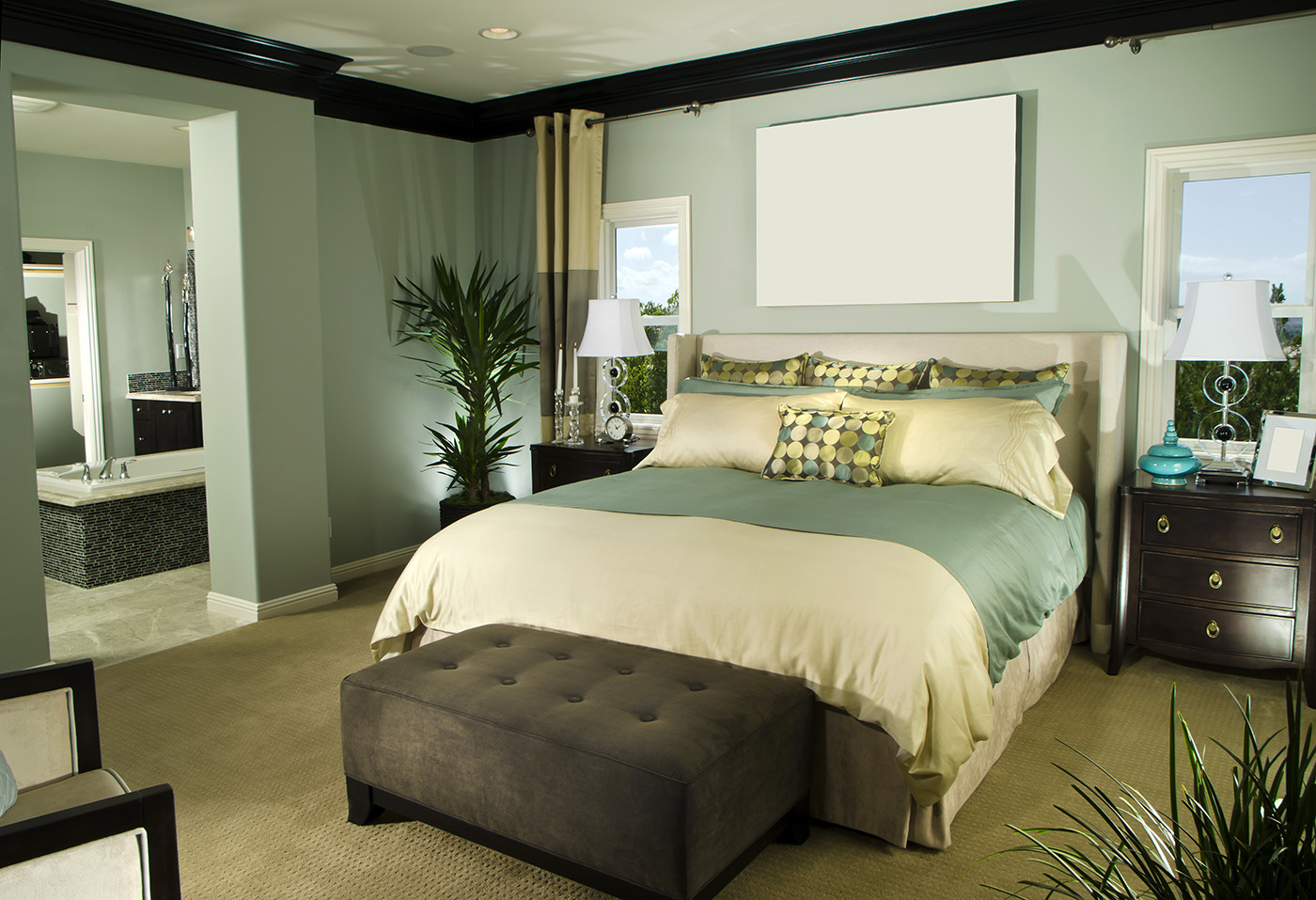Bedroom frameless painting decorative and furniture 50485