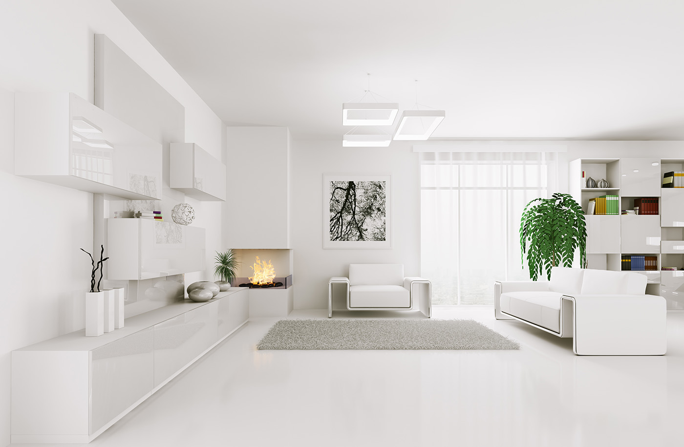 White style interior decoration effect 50501