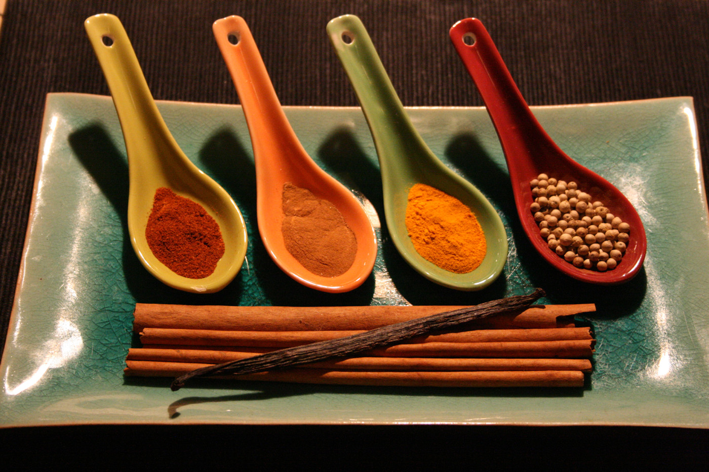 Spoons with spices ingredients 50527
