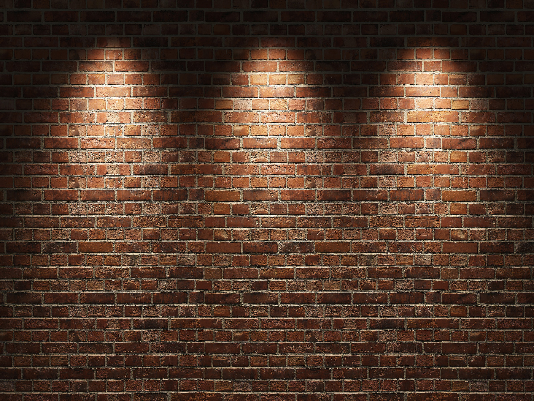 Brick wall with spotlight 50689