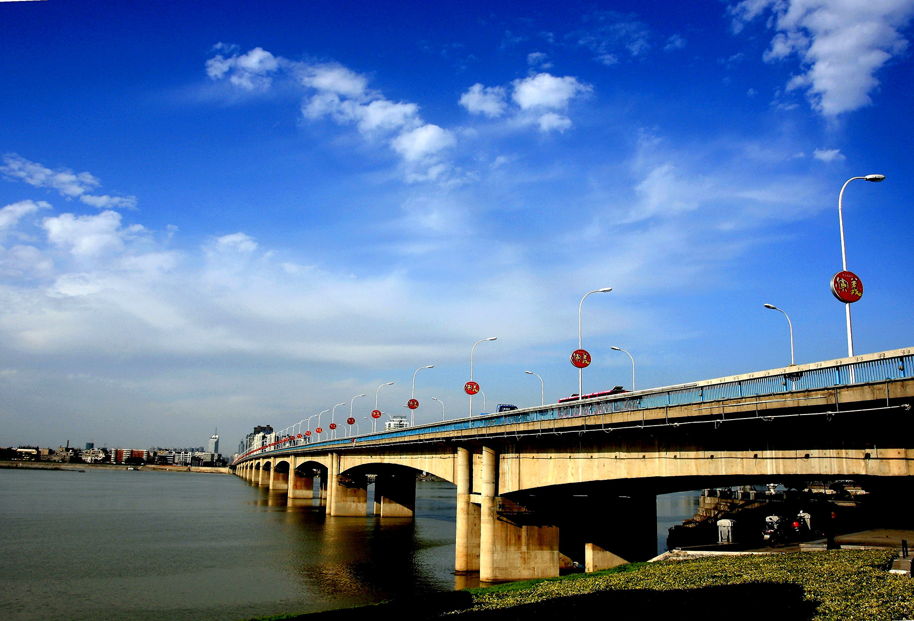 Changhong Bridge under blue sky 50808
