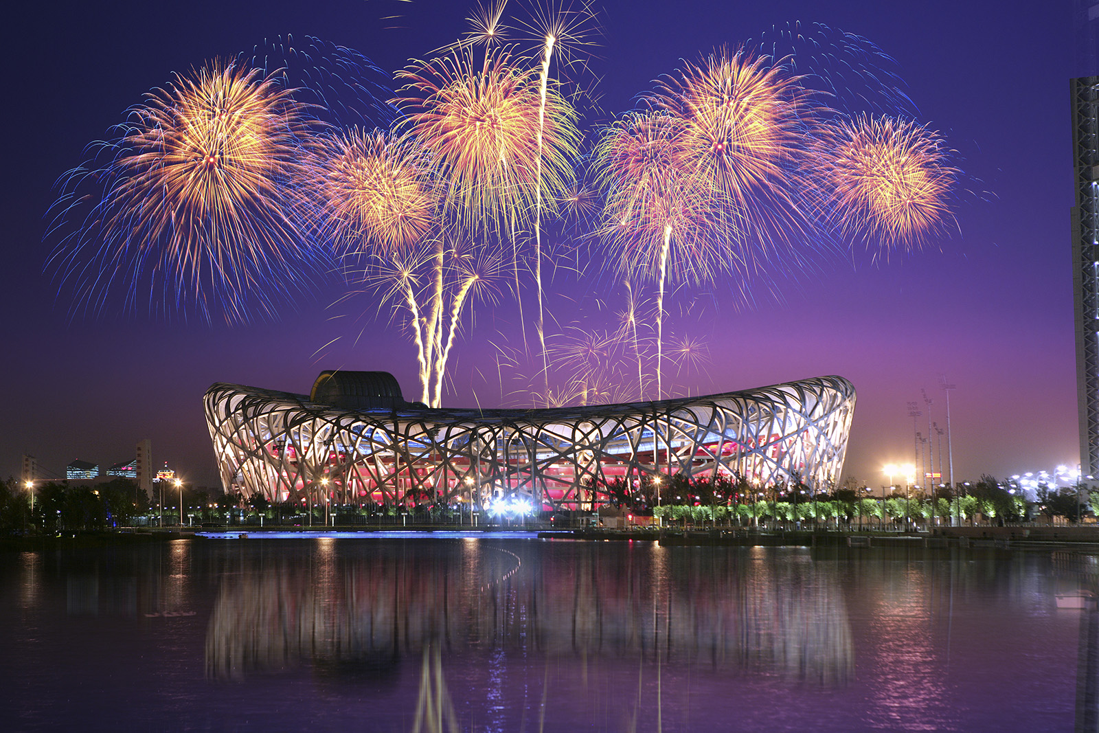 Fireworks in the Bird's Nest 50856
