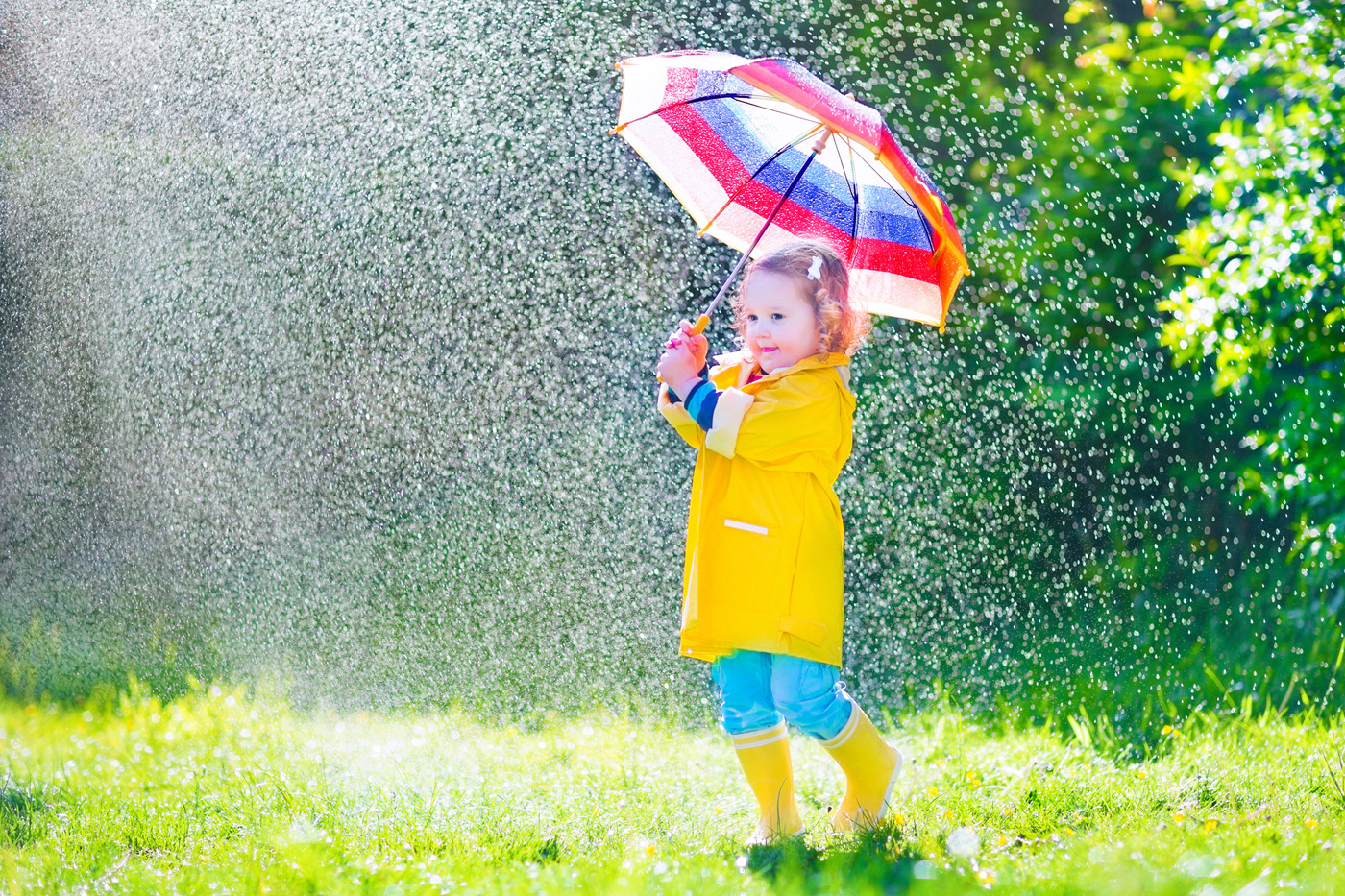 Rain umbrella little girl 50898