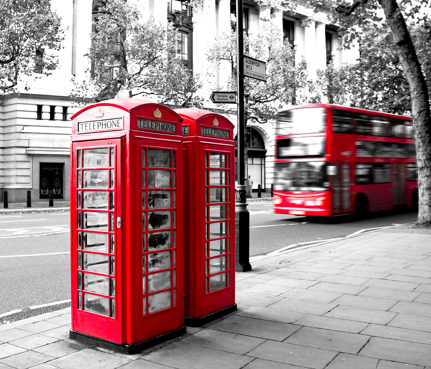 London street telephone booth 50902