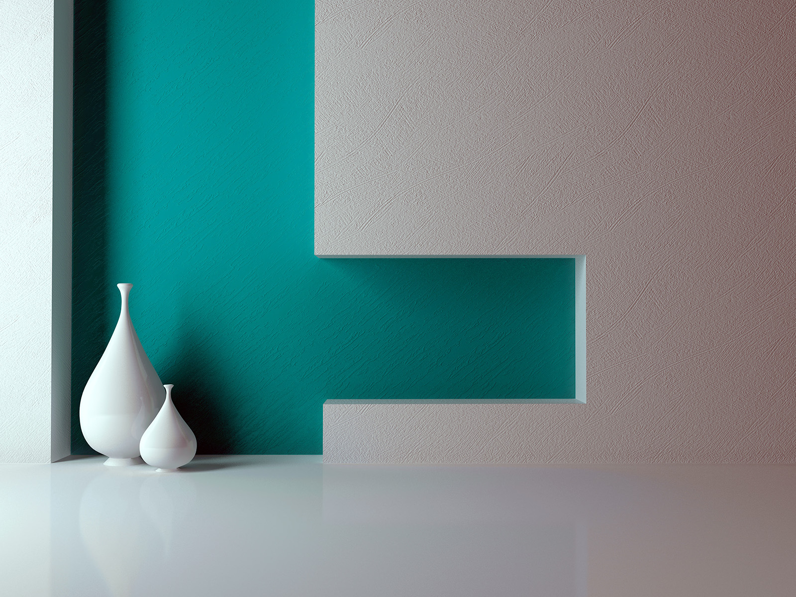 Interior walls and stood in the vase 50933