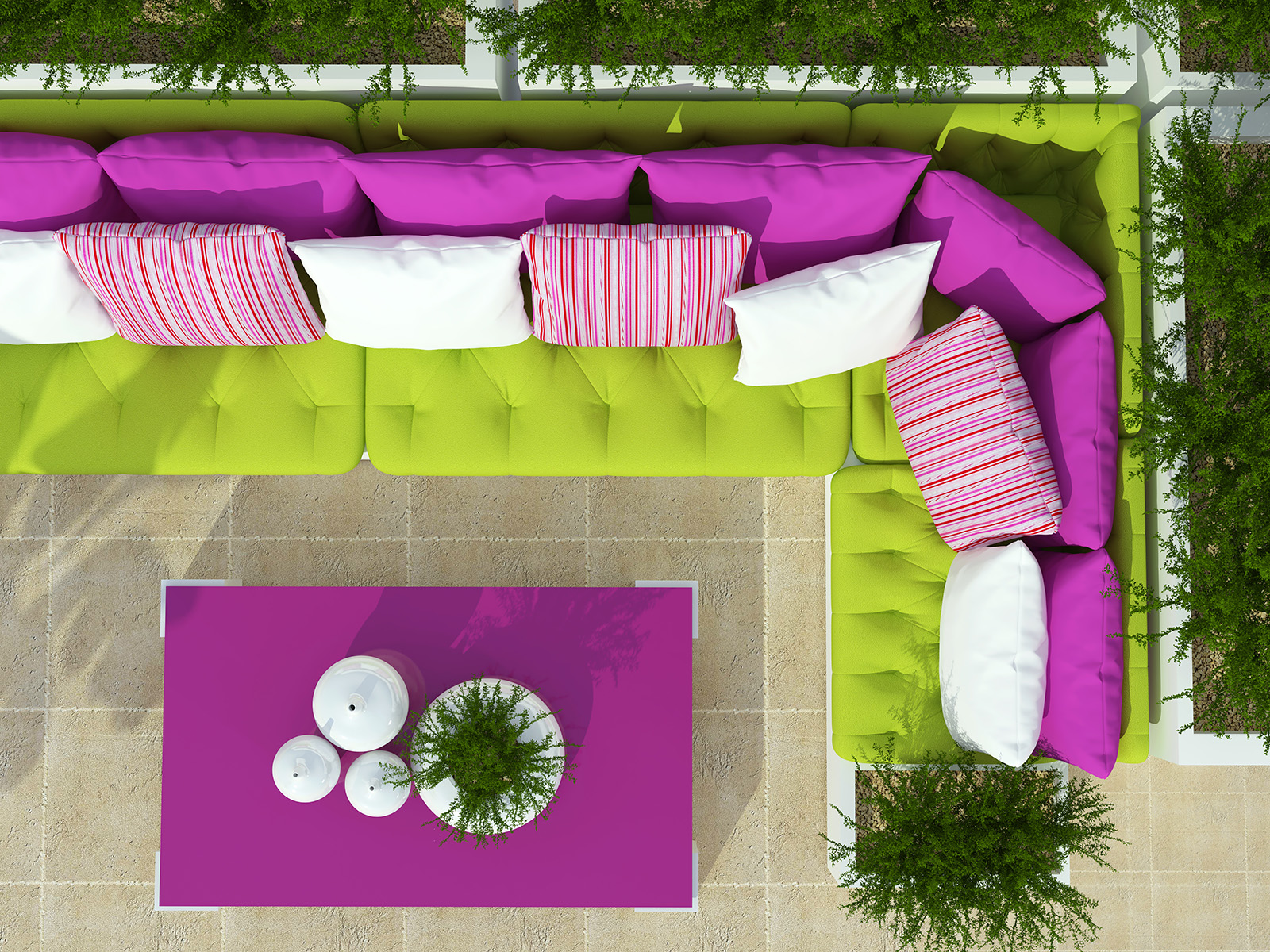 Outdoor coffee table and sofa combination 50939