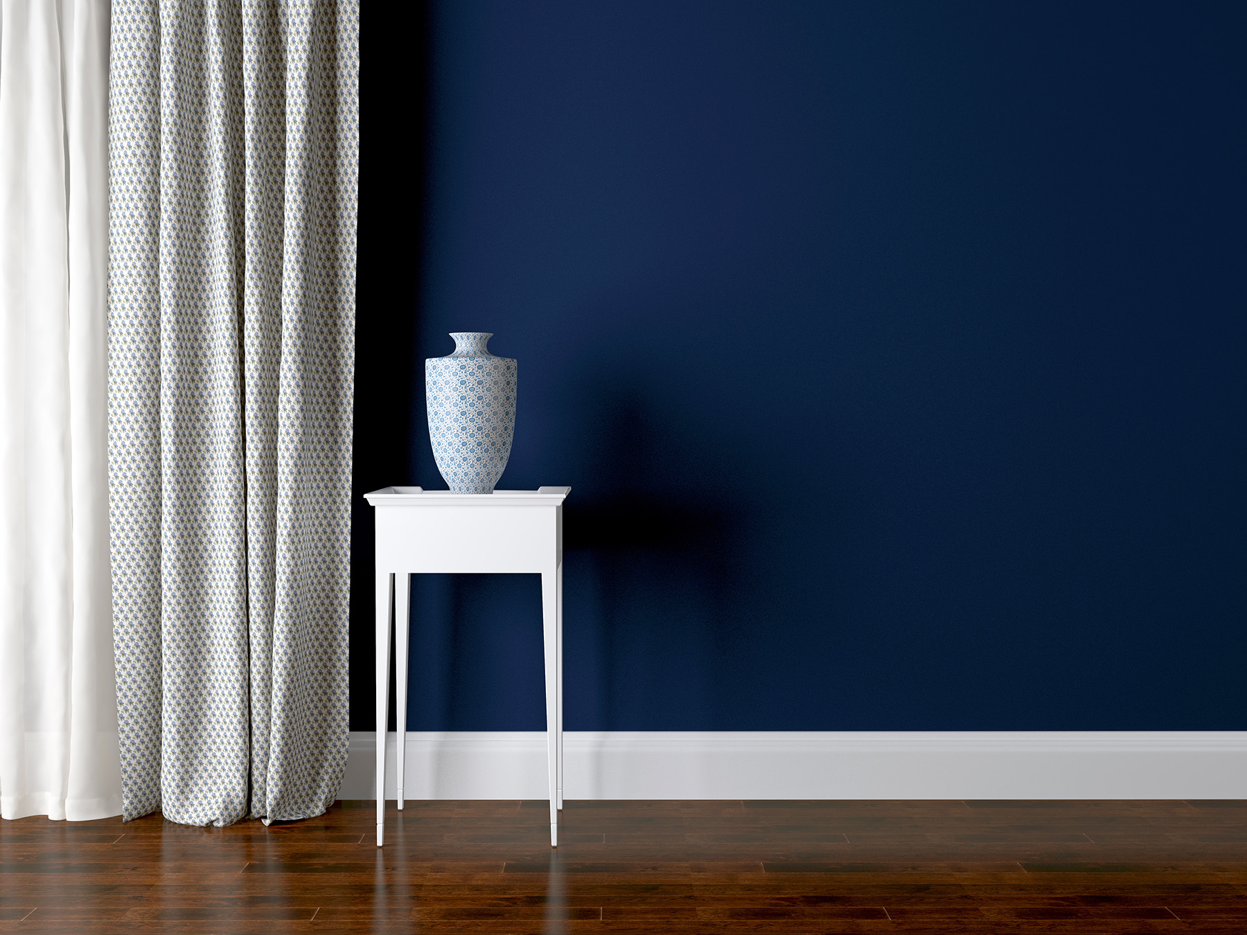 Blue curtain walls and porcelain , etc. 50943
