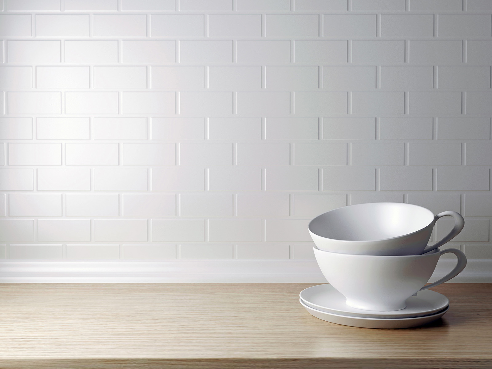 Sense of light walls and dishes 50944