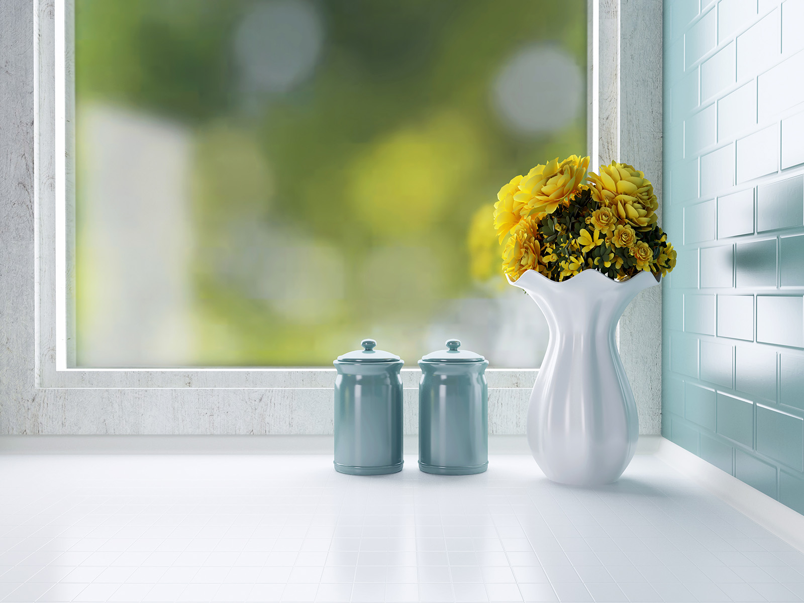 Window display vases and cups 50945