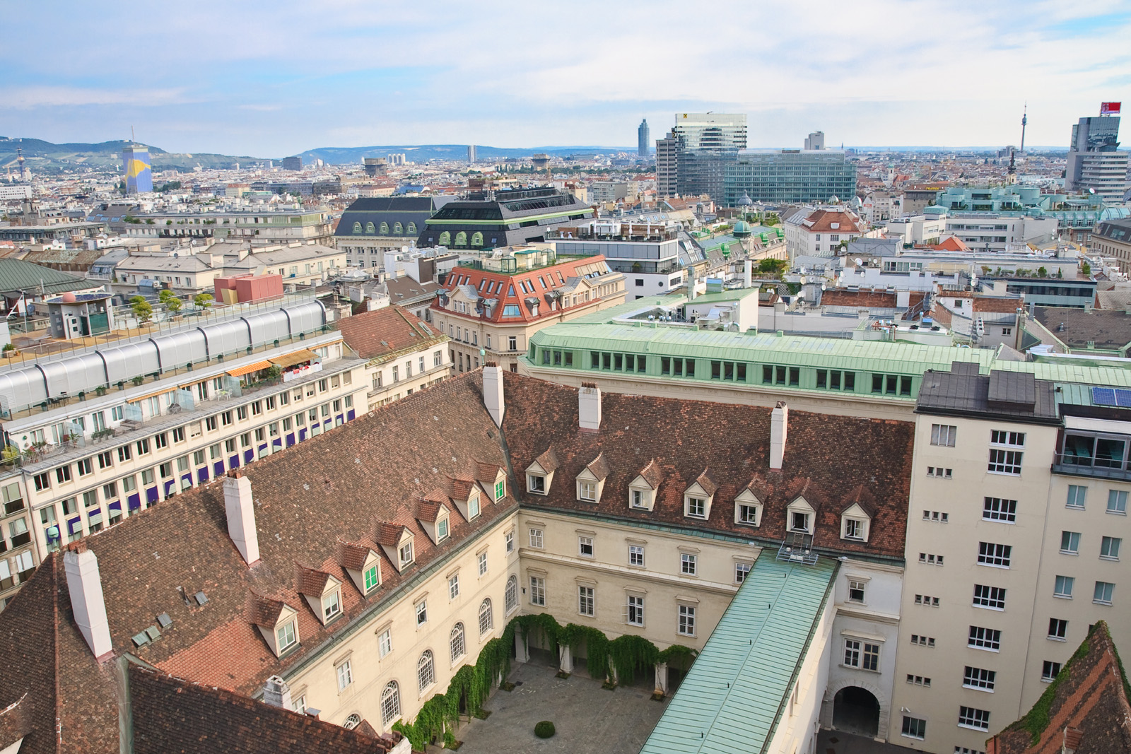 Aerial view of buildings in Vienna, Austria 50969