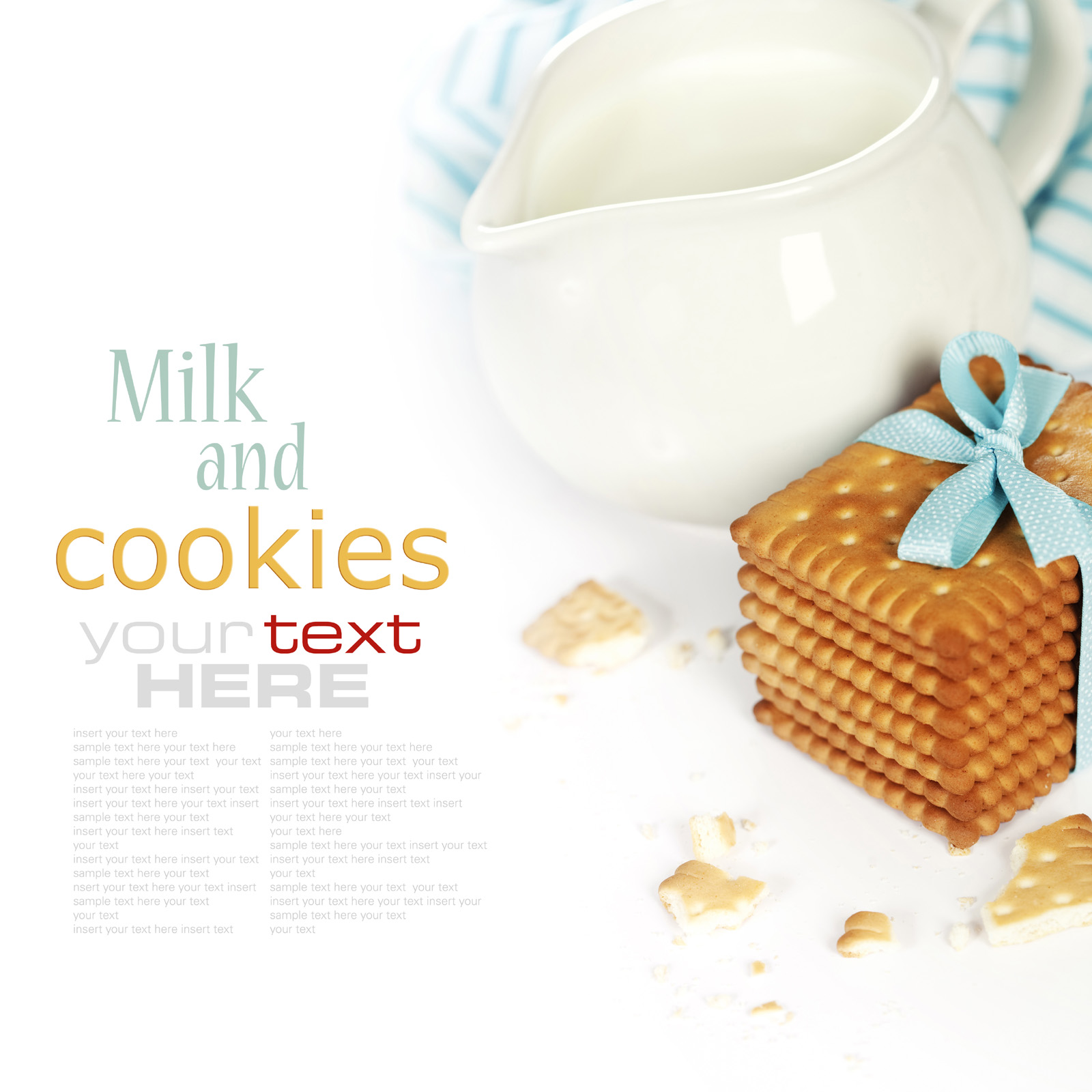 Cookies and milk filled containers 50981
