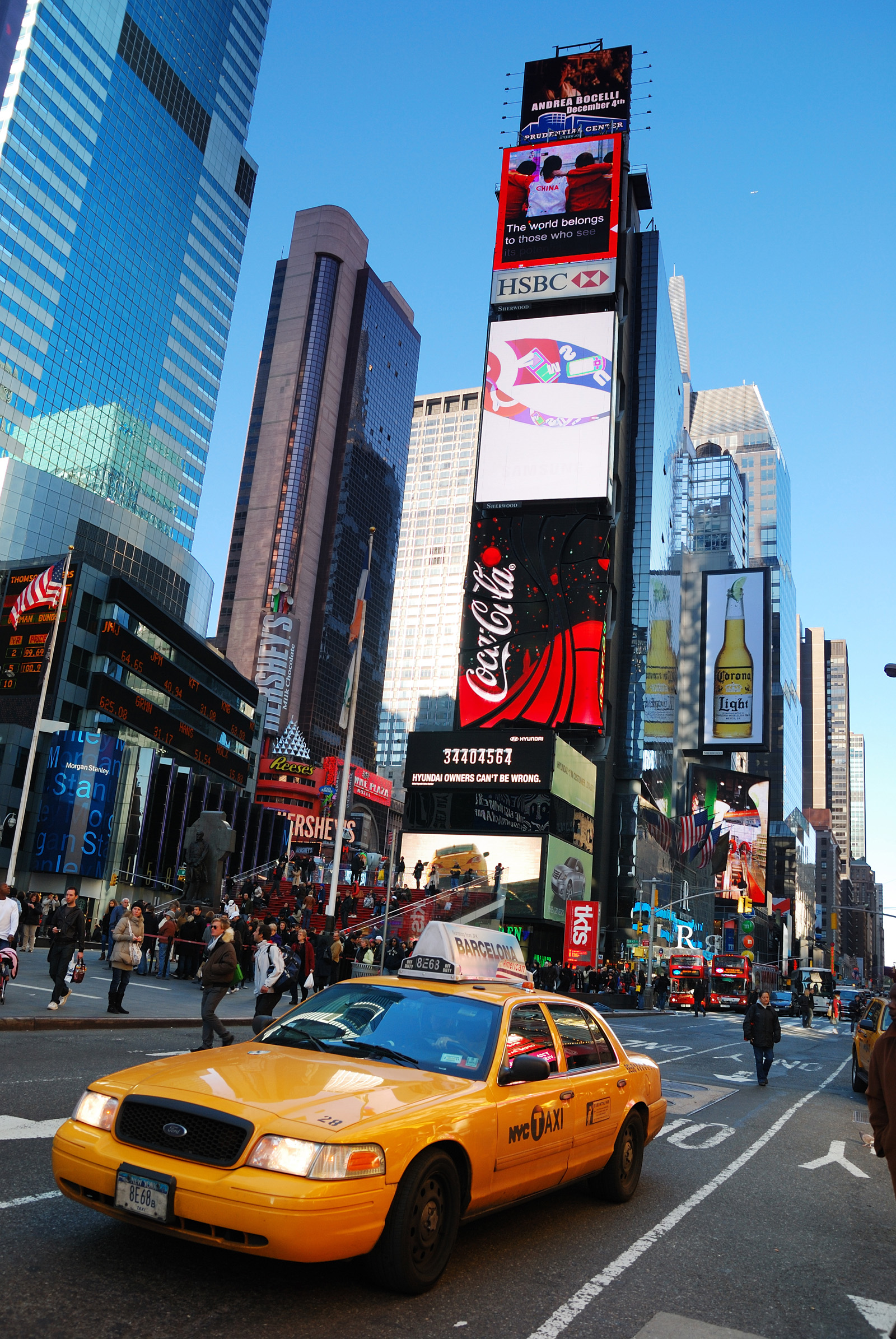 The bustling streets of New York landscape scenery 51025