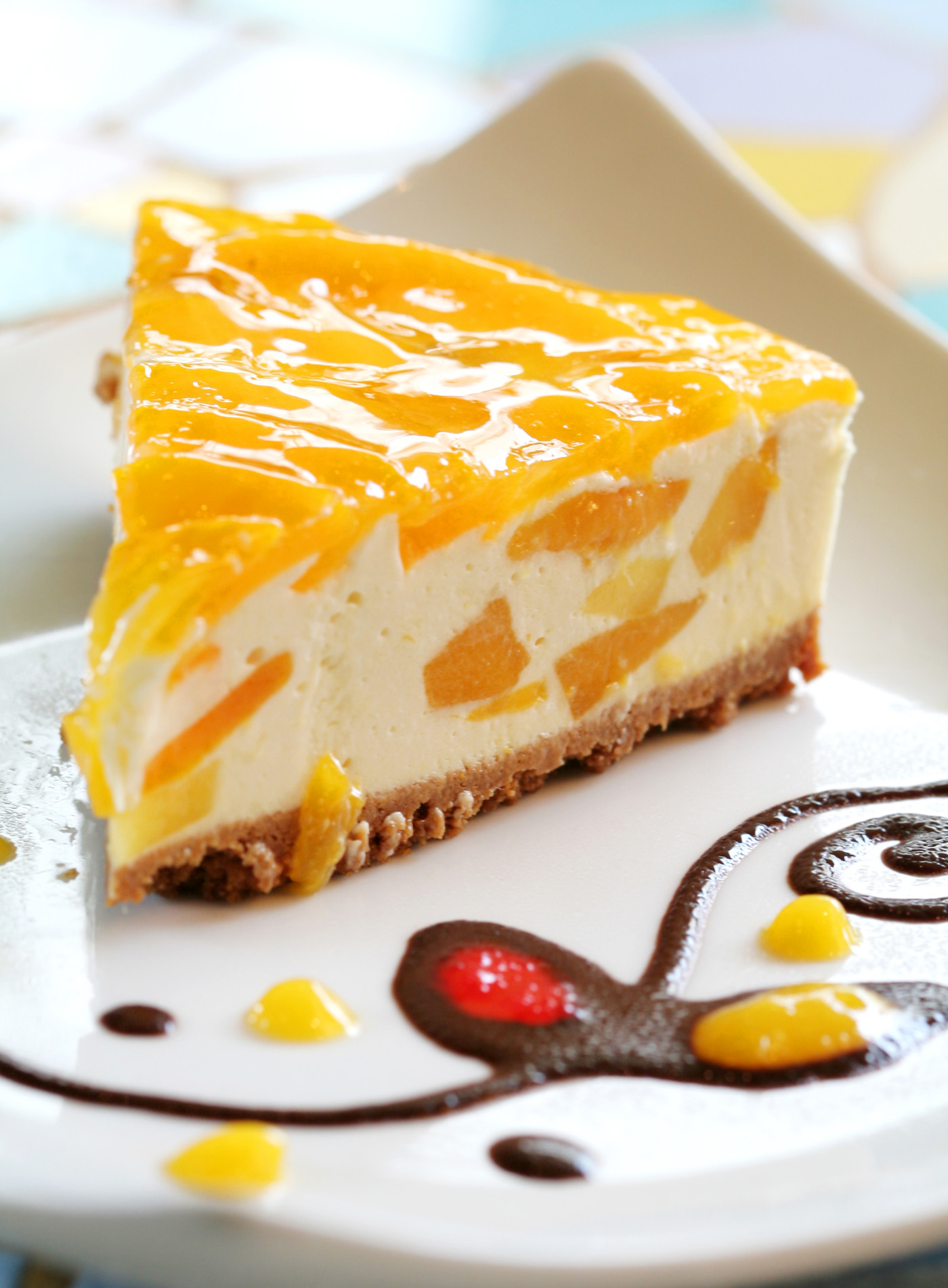 Delicious mango cheesecake 51059