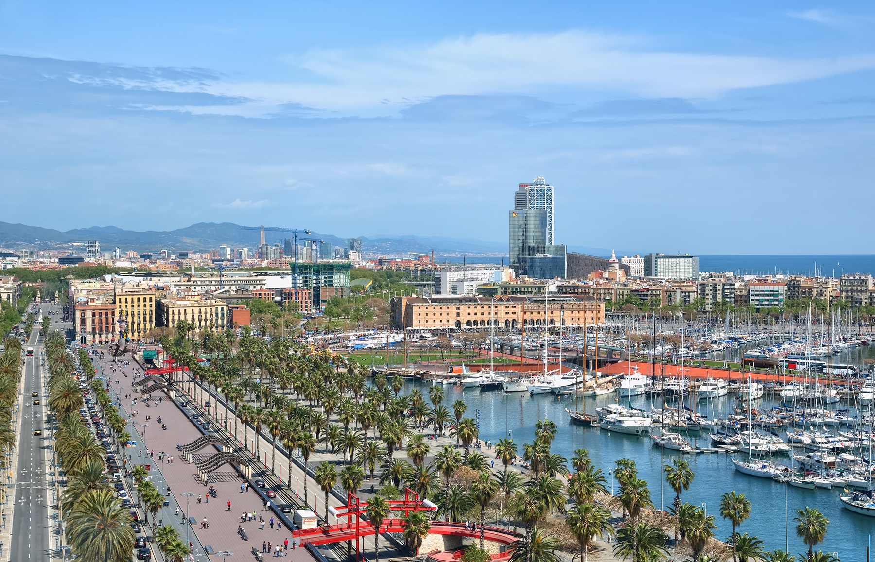 Barcelona Port Road Landscape 51061