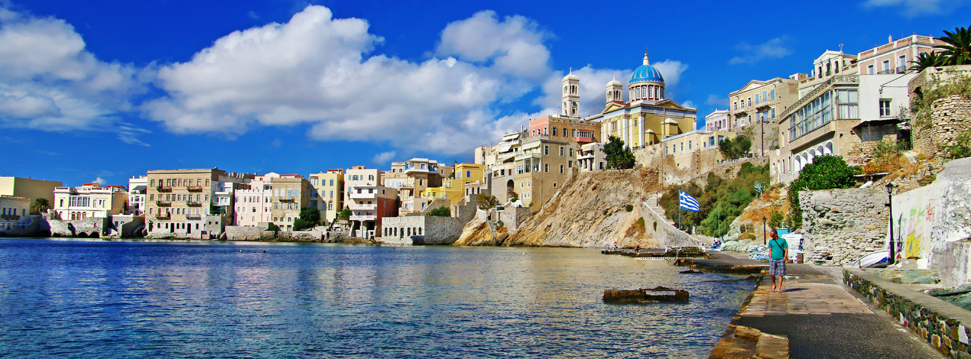 Greece blue sky landscape scenery 51071
