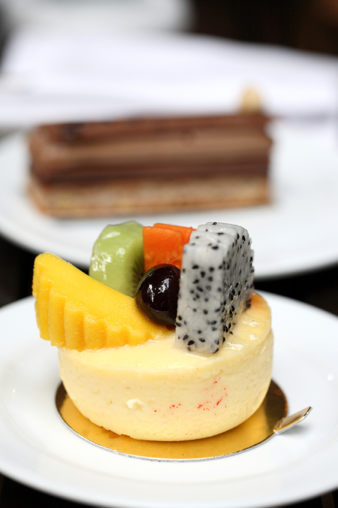Fruit cake on a plate 51074