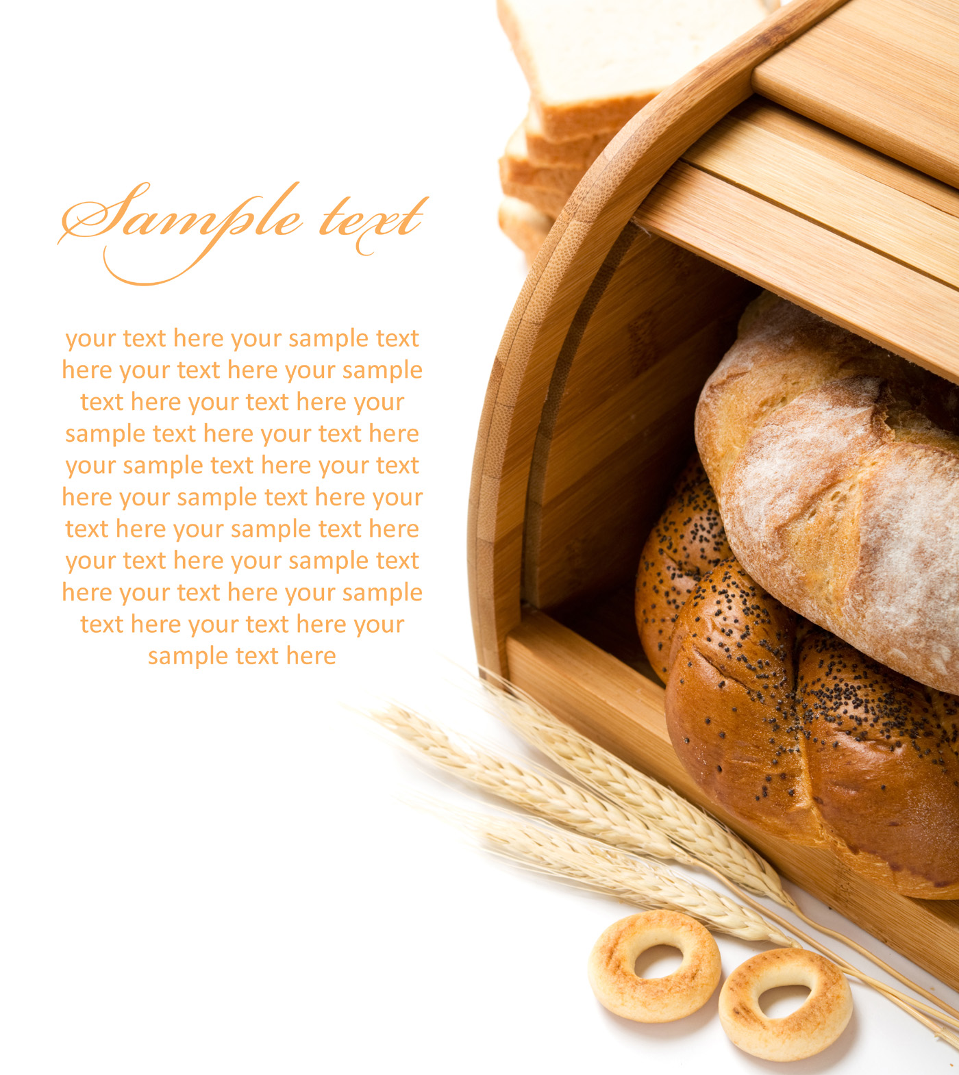 Small wheat and whole wheat bread 51090