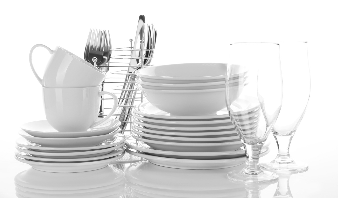 Knife and fork with white plate dishes 51099