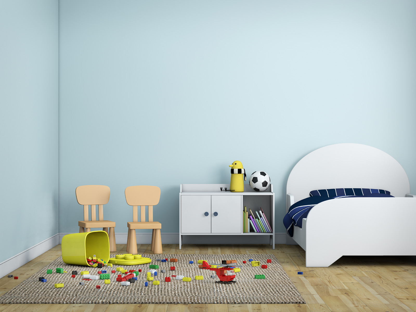 Children's room, bed and toys 51187