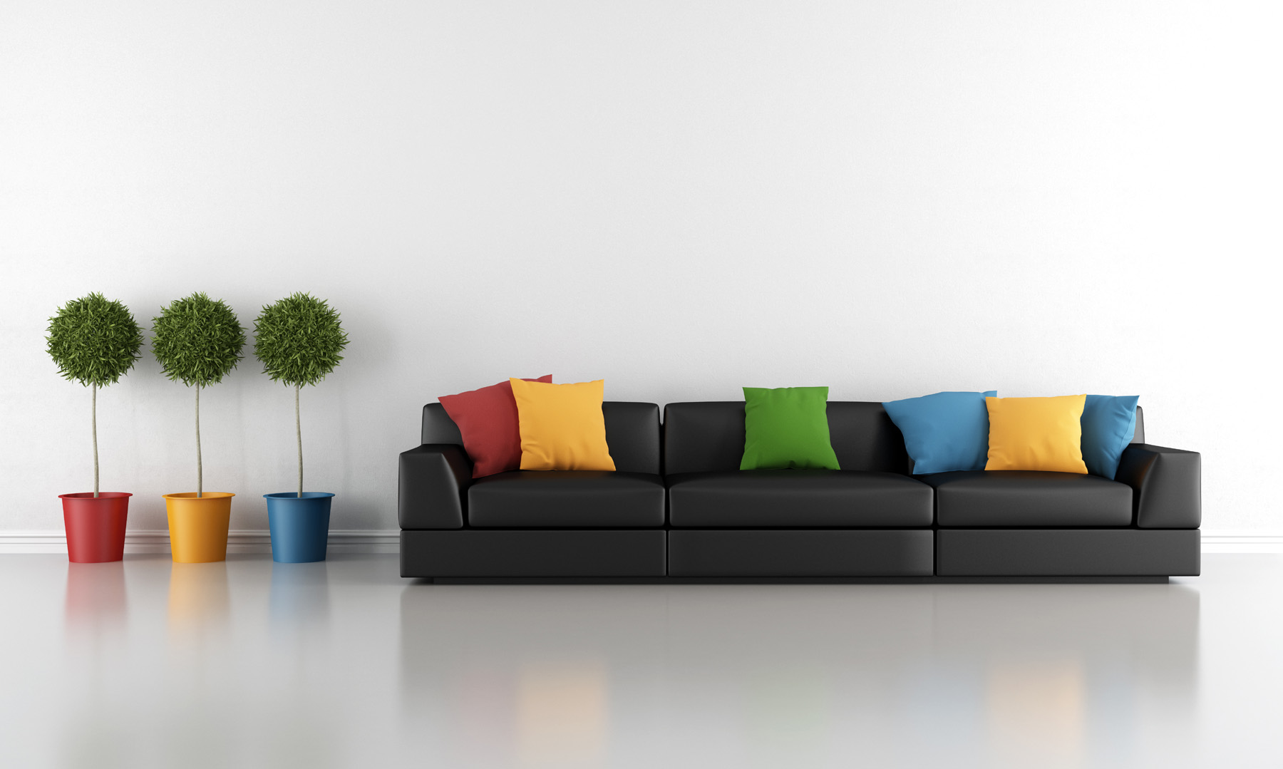 Green pillows and couch 51241