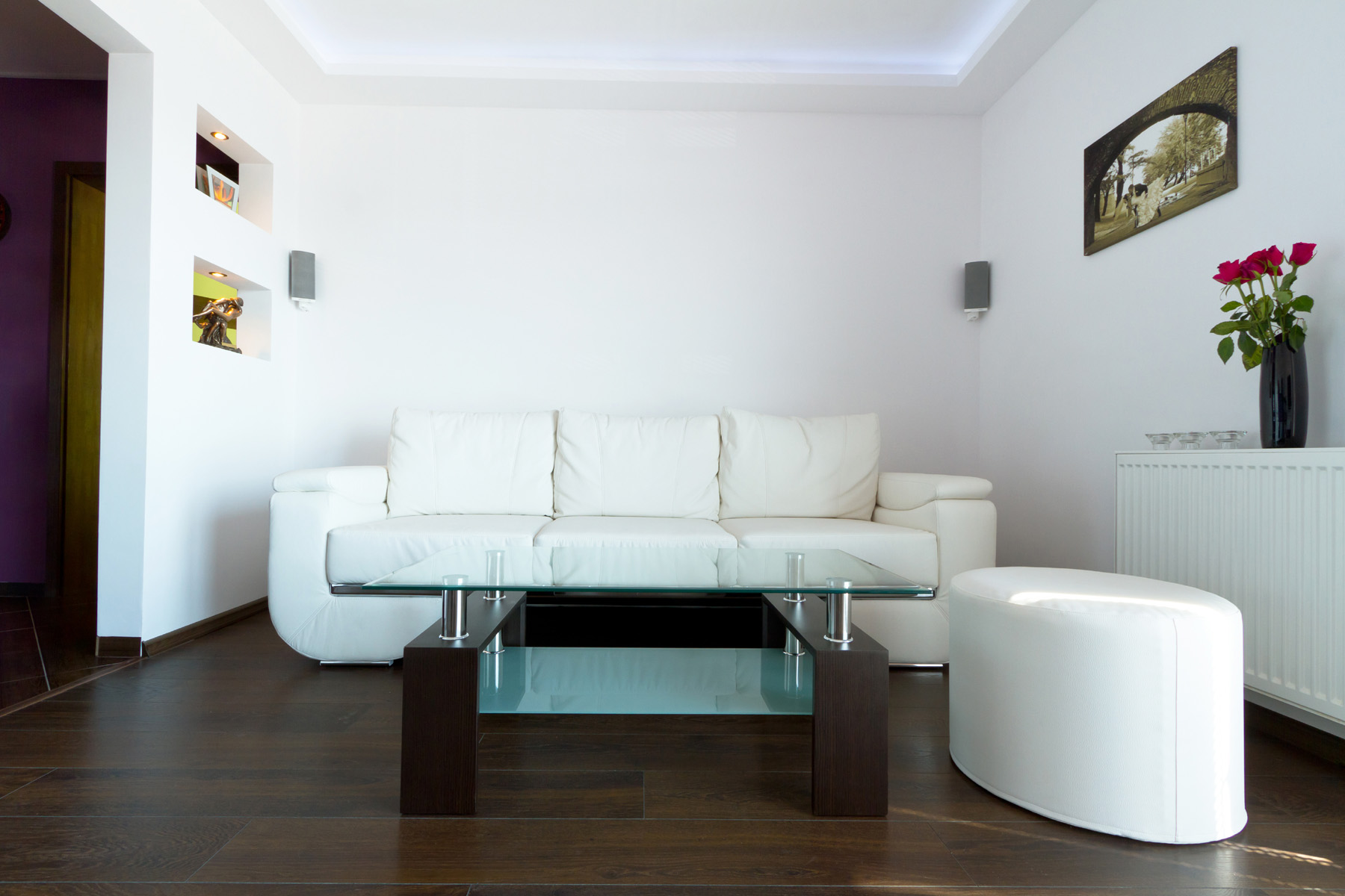 White sofa and coffee table 51275