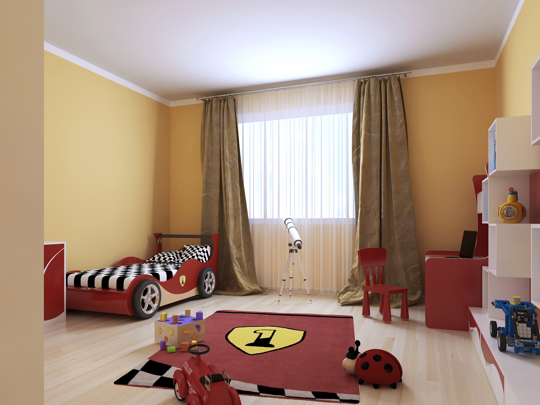 Children's room ideas small bed 51281