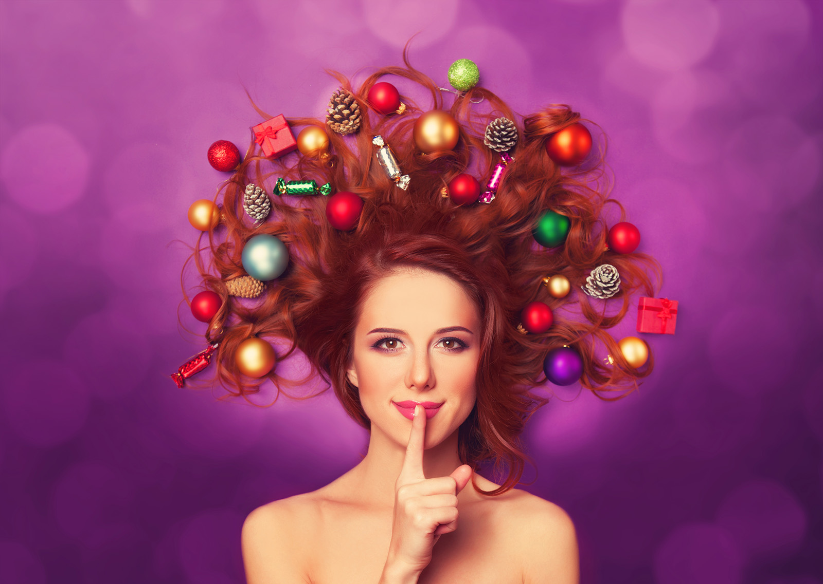 Christmas decoration items with beautiful hair 51289