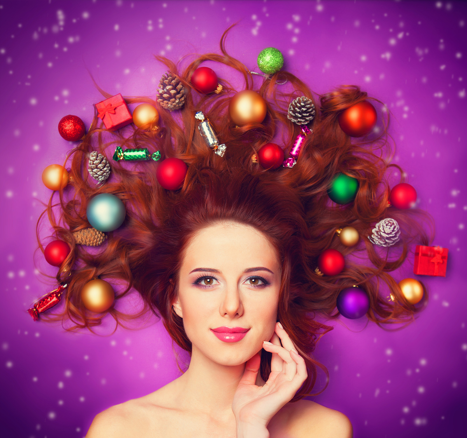 Christmas decoration items with beautiful hair 51304