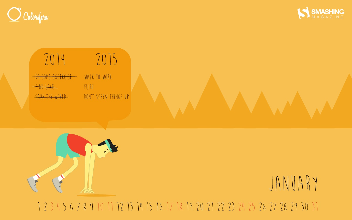 In January Calendar Wallpaper 51339