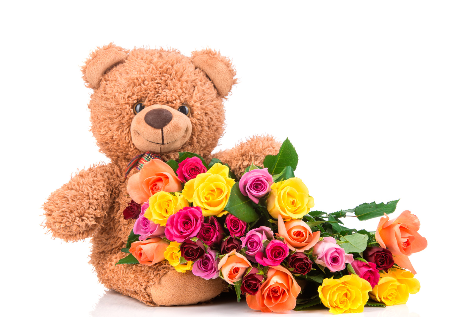 Teddy bears and roses 51419