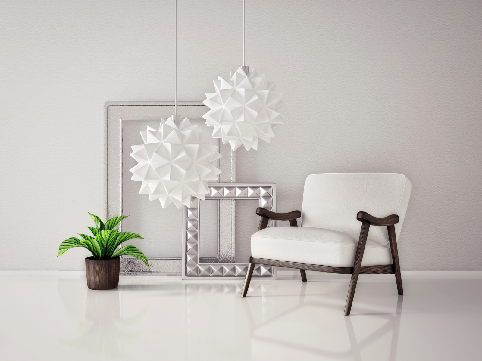 Ornaments frame chairs and flower pots 51424