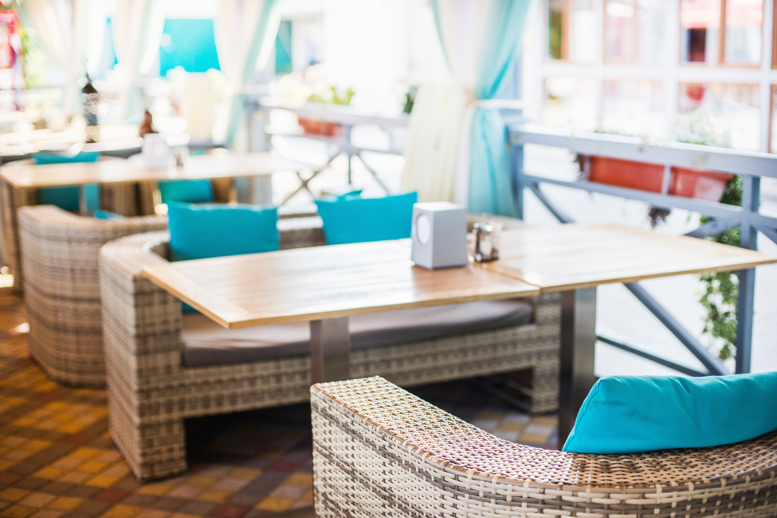 Restaurant tables and chairs inside 51429