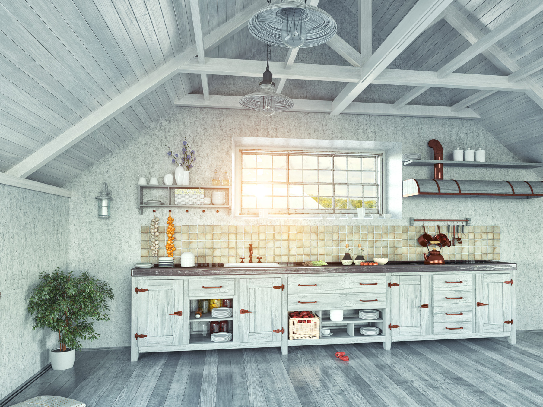 Wooden houses kitchen 51486