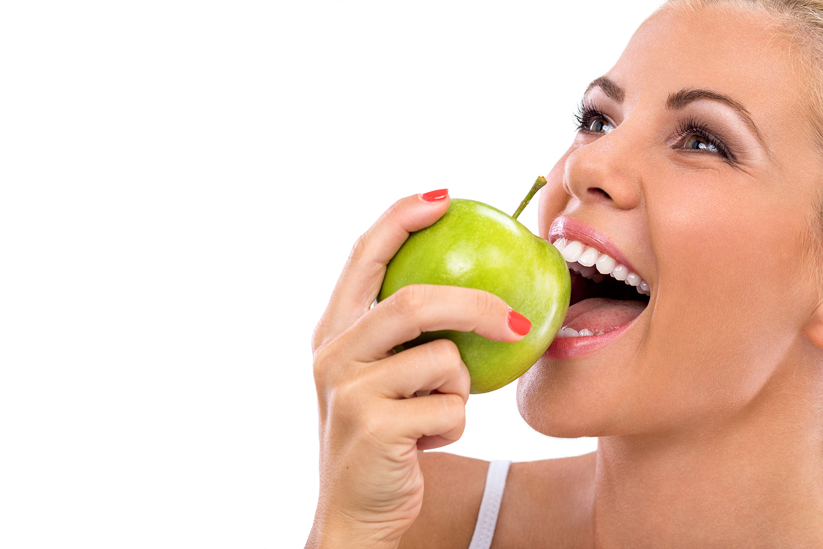 Eating apples beauty close-up 51506