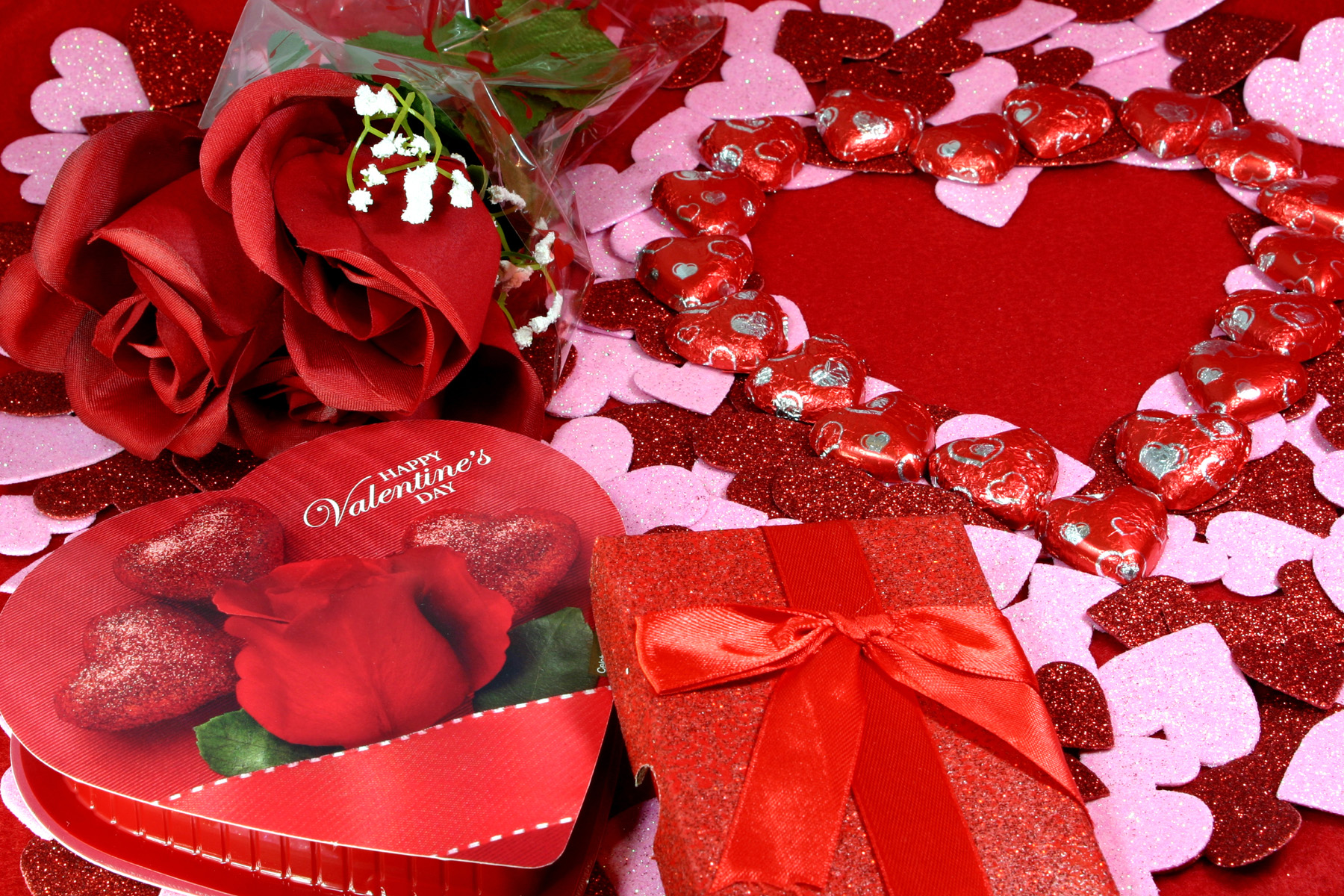 Rose flower and gift box 51568